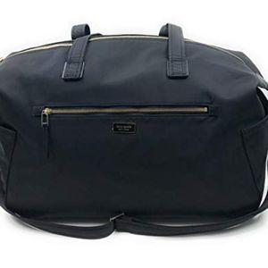 Kate Spade Black Nylon Weekender Bag